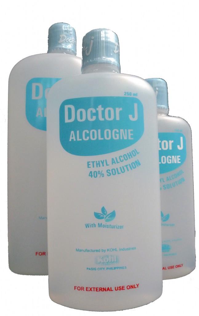 Doctor J Alcologne 40% Ethyl Alcohol